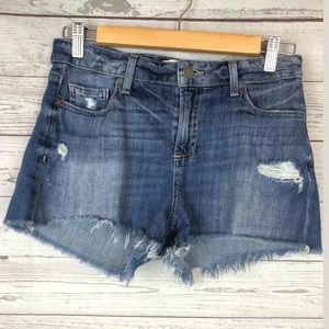 Paige size 28 distressed Daryn shorts cut offs